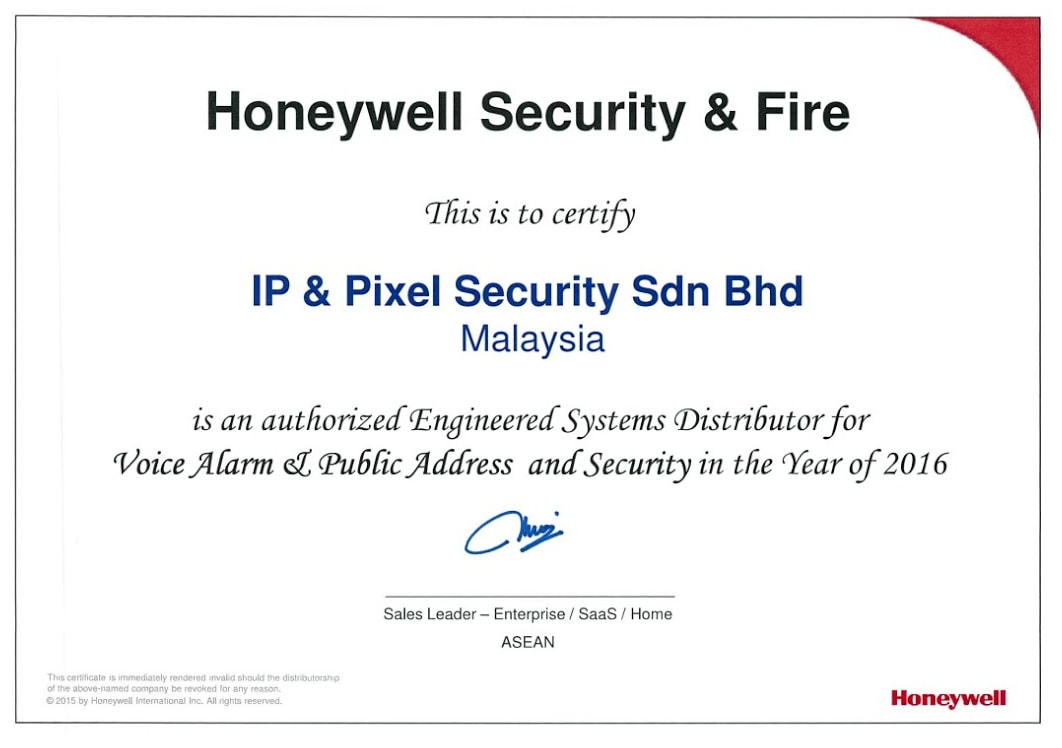Honeywell Security & Fire (USA) Had Appointed IPSEC Malaysia As Authorized Security, Fire & Safety Project Distributor For Malaysia.