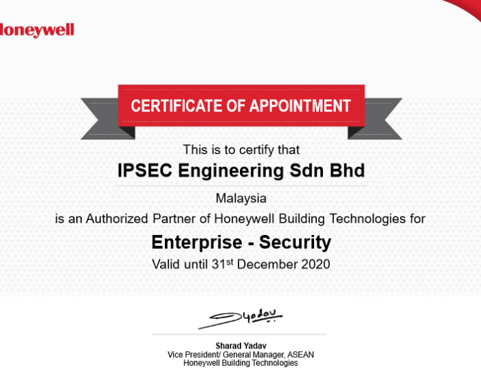 Authorized Partner Of Honeywell Building Technologies